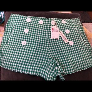 Max studio green shorts